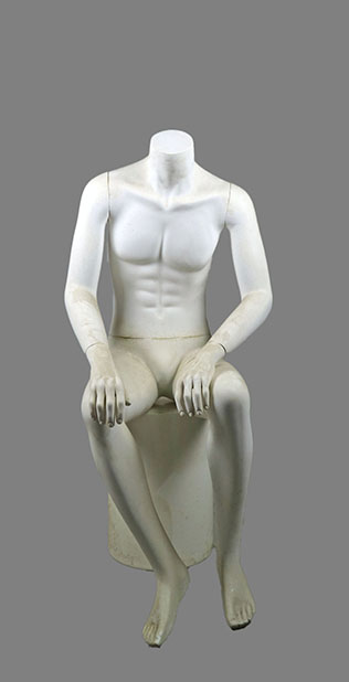 Male sitting mannequin 015