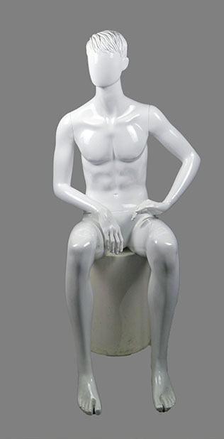 Male sitting mannequin 014