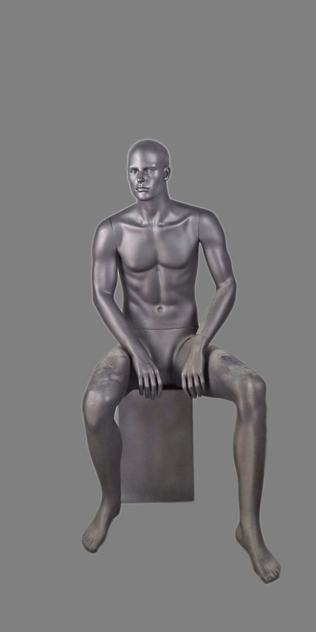 male sitting mannequin 006