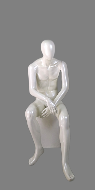 male sitting mannequin 005