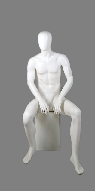 male sitting mannequin 007