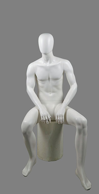male sitting mannequin 009
