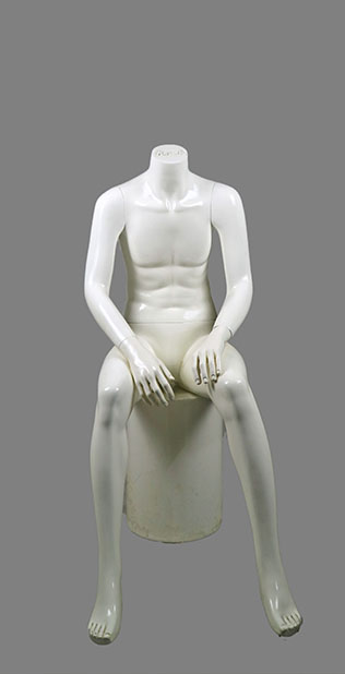male sitting mannequin 012