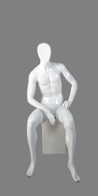 male sitting mannequin 003