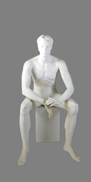 male sitting mannequin 002