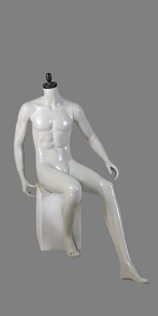 male sitting mannequin 001